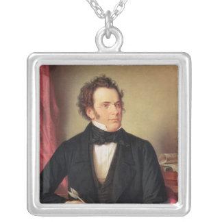 Franz Peter Schubert Square Pendant Necklace