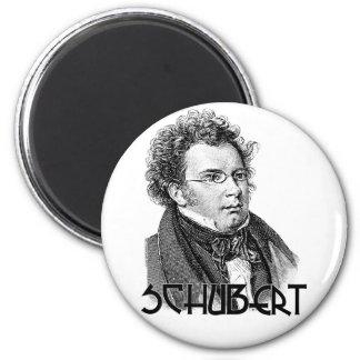 Franz Schubert 6 Cm Round Magnet