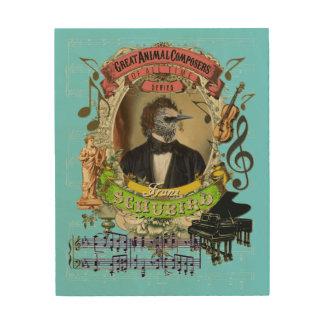 Franz Schubird Funny Animal Composer Schubert Wood Wall Art