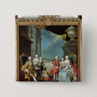 Franz Stephan I  with his wife Marie-Therese 15 Cm Square Badge
