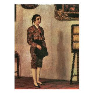 Franz von Stuck - Mary as a bullfighter Postcard