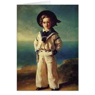 Franz Winterhalter- Albert Edward Prince of Wales Card
