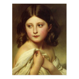 Franz Winterhalter- Young Girl, Princess Charlotte Post Cards