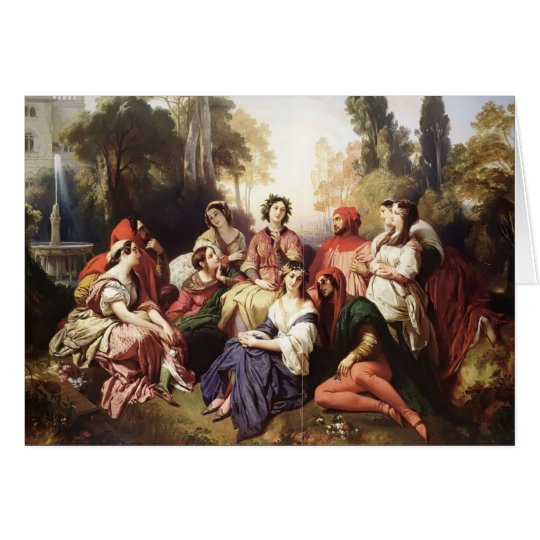 Franz Xaver Winterhalter- The Decameron Card