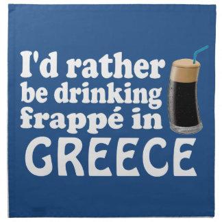 Frappé in Greece Napkin