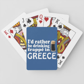 Frappé in Greece Playing Cards