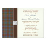 Fraser Ancient Hunting Tartan Wedding Invitation