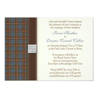 "Fraser Ancient Hunting Tartan Wedding Invitation 5"" X 7"" Invitation Card"