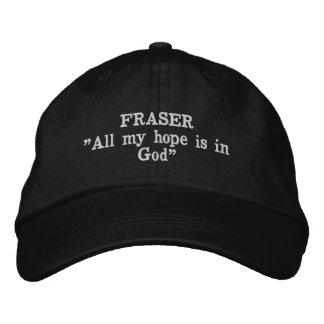 Fraser Clan Motto Embroidered Hat