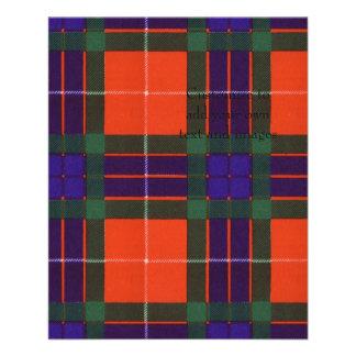 Fraser clan Plaid Scottish tartan 11.5 Cm X 14 Cm Flyer
