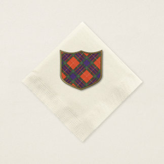 Fraser clan Plaid Scottish tartan Disposable Napkin