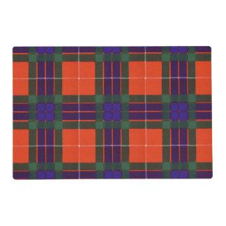 Fraser clan Plaid Scottish tartan Laminated Place Mat