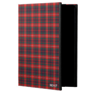 Fraser Clan Red and Navy Blue Tartan Monogram Powis iPad Air 2 Case