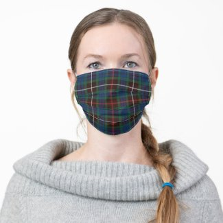 Fraser Hunting Tartan Cloth Face Mask