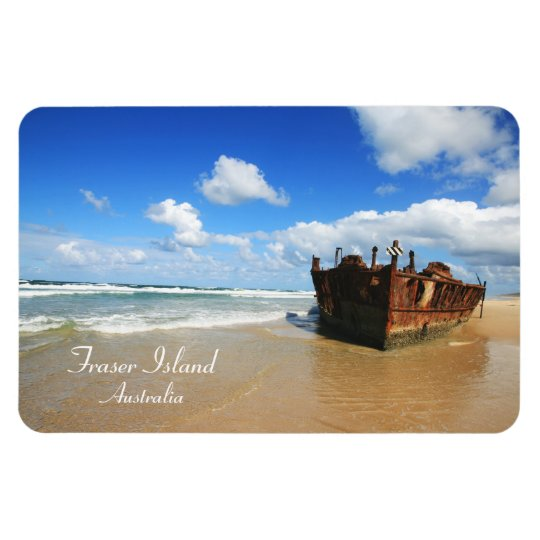 Fraser Island Shipwreck, Australia, Premium Magnet