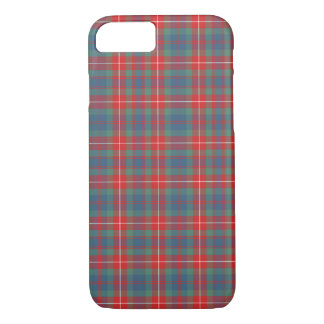 Fraser of Lovat Clan Coral and Blue Ancient Tartan iPhone 8/7 Case