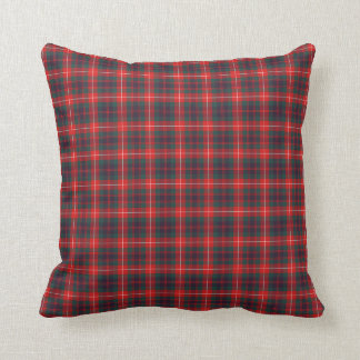 Fraser of Lovat Modern Tartan Red and Blue Plaid Cushion