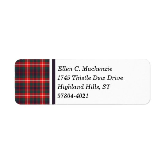 Fraser of Lovat Red and Navy Blue Modern Tartan