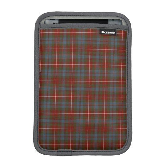 Fraser of Lovat Reproduction Tartan Dark Red Plaid iPad Mini Sleeve