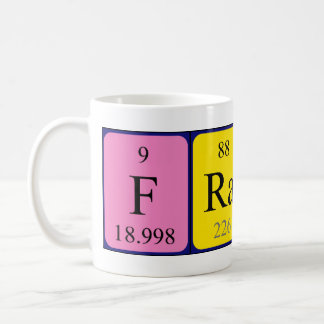 Fraser periodic table name mug
