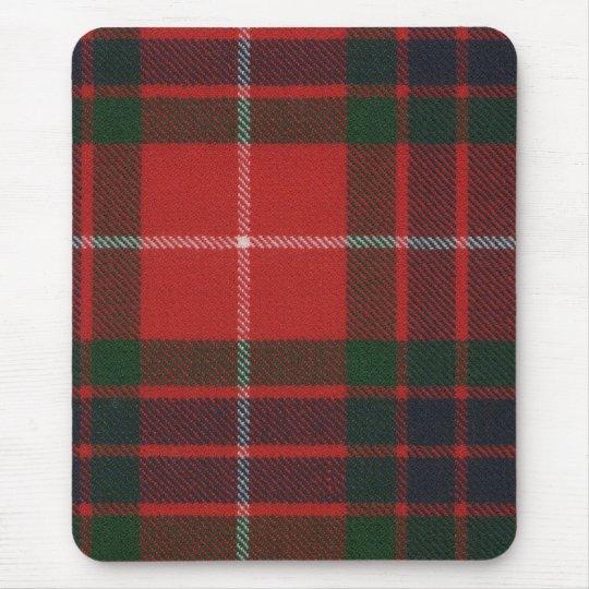 Fraser Red Modern Tartan Mousepad
