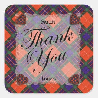 Fraser Scottish clan tartan - Plaid Sticker