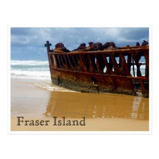 fraser ship wreck postcard