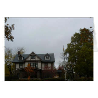 Fraternity House Greeting Card