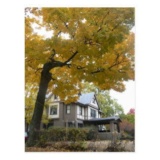 Fraternity house post card Fall