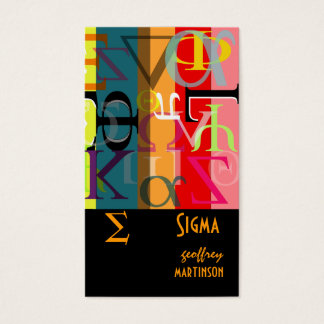 Fraternity / sorority profile cards