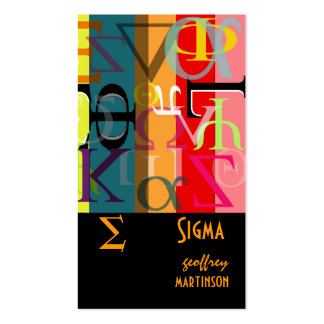 Fraternity / sorority profile cards pack of standard business cards