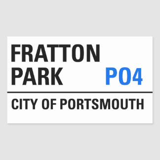 Fratton Park Portsmouth Road Sign Rectangular Stickers