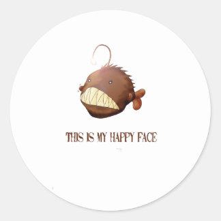 Frau Angler Round Sticker