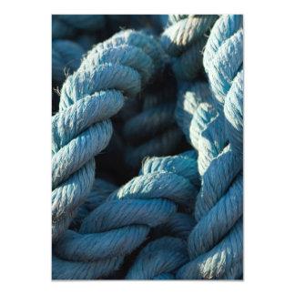 Frayed Blue Rope Closeup 11 Cm X 16 Cm Invitation Card