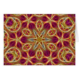 Frayed threads kaleidoscope horizontal card