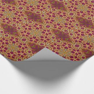 Frayed threads kaleidoscope tiled paper