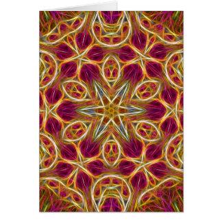 Frayed threads kaleidoscope vertical card