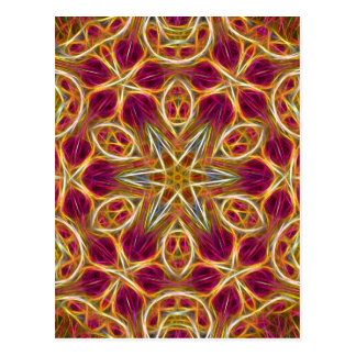 Frayed threads kaleidoscope vertical postcard