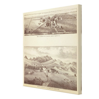 Frazier Valley, Lakeside ranches Canvas Print
