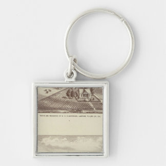Frazier Valley, Lakeside ranches Silver-Colored Square Key Ring