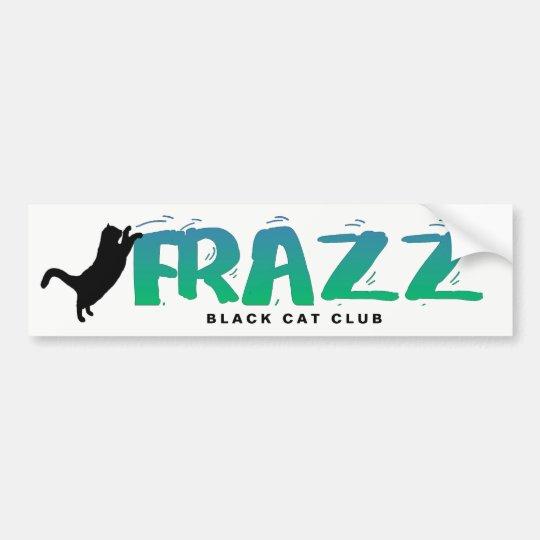 FRAZZ! Black Cat Club Bumper Sticker