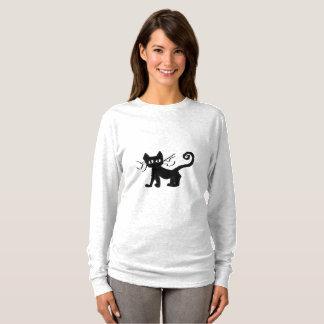 Frazzle Kitty Women's Basic Long Sleeve T-Shirt