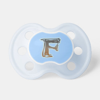 FRAZZLE MONOGRAM F Pacifier BooginHead Pacifier