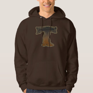 FRAZZLE MONOGRAM T HOODED PULLOVERS