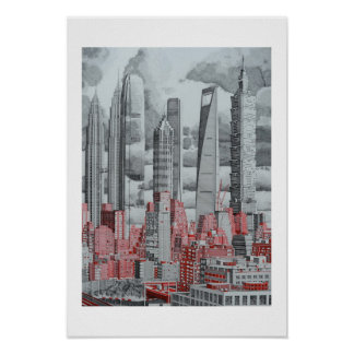 FRdesign Skyscrapers Art Poster