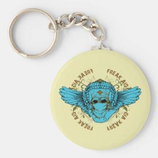 Freak Aid - Gothic Punk Grunge Basic Round Button Key Ring