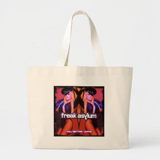 FREAK ASYLUM YOU BETTER LEAVE  KELLY LLORENNA LARGE TOTE BAG