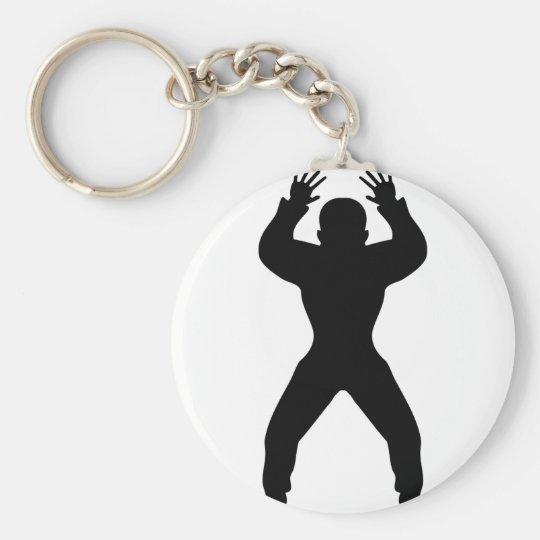 freak handball icon basic round button key ring