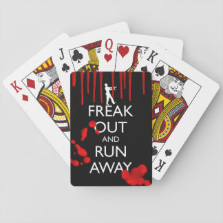 FREAK OUT AND RUN AWAY PLAYING CARDS