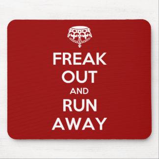 Freak Out Run Away Keep Calm Carry On Mouse Mat